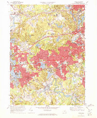 Download a high-resolution, GPS-compatible USGS topo map for Natick, MA (1972 edition)