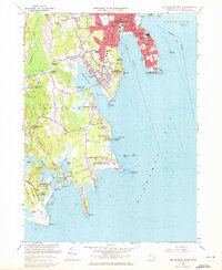 Download a high-resolution, GPS-compatible USGS topo map for New Bedford South, MA (1973 edition)