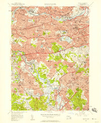 Download a high-resolution, GPS-compatible USGS topo map for Newton, MA (1958 edition)