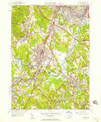 Download a high-resolution, GPS-compatible USGS topo map for Norwood, MA (1958 edition)