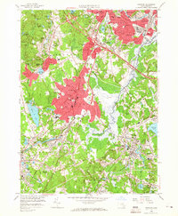 Download a high-resolution, GPS-compatible USGS topo map for Norwood, MA (1966 edition)
