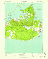 Download a high-resolution, GPS-compatible USGS topo map for Siasconset, MA (1958 edition)