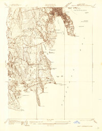 Download a high-resolution, GPS-compatible USGS topo map for South Dartmouth, MA (1936 edition)