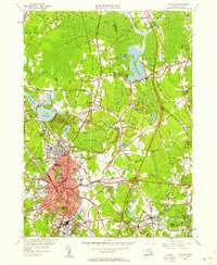 Download a high-resolution, GPS-compatible USGS topo map for Taunton, MA (1958 edition)