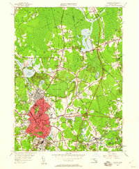 Download a high-resolution, GPS-compatible USGS topo map for Taunton, MA (1960 edition)