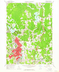 Download a high-resolution, GPS-compatible USGS topo map for Taunton, MA (1964 edition)
