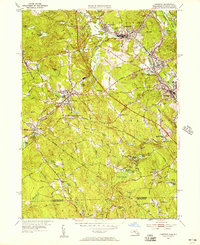 Download a high-resolution, GPS-compatible USGS topo map for Uxbridge, MA (1957 edition)