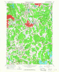 Download a high-resolution, GPS-compatible USGS topo map for Whitman, MA (1968 edition)