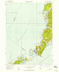 Download a high-resolution, GPS-compatible USGS topo map for Woods Hole, MA (1958 edition)