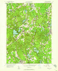 Download a high-resolution, GPS-compatible USGS topo map for Wrentham, MA (1958 edition)