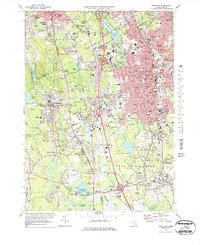 Download a high-resolution, GPS-compatible USGS topo map for Brockton, MA (1979 edition)