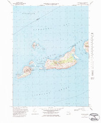 Download a high-resolution, GPS-compatible USGS topo map for Cuttyhunk, MA (1984 edition)