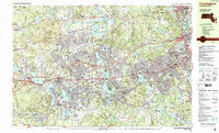 Download a high-resolution, GPS-compatible USGS topo map for Framingham, MA (1987 edition)