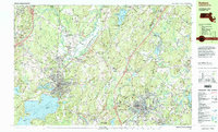Download a high-resolution, GPS-compatible USGS topo map for Hudson, MA (1999 edition)