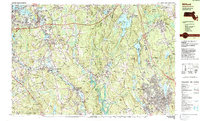 Download a high-resolution, GPS-compatible USGS topo map for Milford, MA (1984 edition)