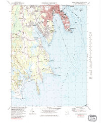 Download a high-resolution, GPS-compatible USGS topo map for New Bedford South, MA (1983 edition)