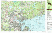 Download a high-resolution, GPS-compatible USGS topo map for Salem, MA (1986 edition)