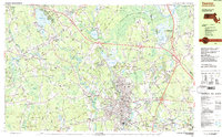 Download a high-resolution, GPS-compatible USGS topo map for Taunton, MA (1987 edition)