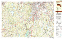 Download a high-resolution, GPS-compatible USGS topo map for Worcester South, MA (1984 edition)