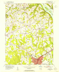 Download a high-resolution, GPS-compatible USGS topo map for Aberdeen, MD (1955 edition)
