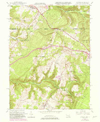 Download a high-resolution, GPS-compatible USGS topo map for Accident, MD (1982 edition)