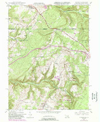 Download a high-resolution, GPS-compatible USGS topo map for Accident, MD (1989 edition)