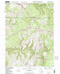 Download a high-resolution, GPS-compatible USGS topo map for Accident, MD (1999 edition)