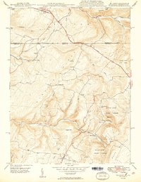 Download a high-resolution, GPS-compatible USGS topo map for Accident, MD (1949 edition)