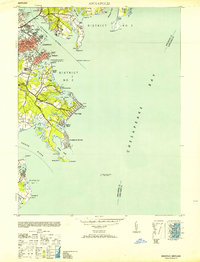 Download a high-resolution, GPS-compatible USGS topo map for Annapolis, MD (1953 edition)