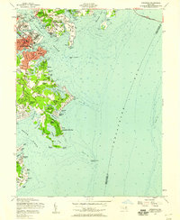 Download a high-resolution, GPS-compatible USGS topo map for Annapolis, MD (1958 edition)
