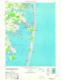 Download a high-resolution, GPS-compatible USGS topo map for Assawoman Bay, MD (1953 edition)