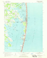 Download a high-resolution, GPS-compatible USGS topo map for Assawoman Bay, MD (1969 edition)