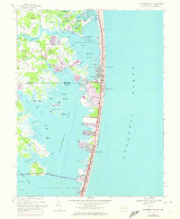 Download a high-resolution, GPS-compatible USGS topo map for Assawoman Bay, MD (1972 edition)