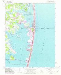 Download a high-resolution, GPS-compatible USGS topo map for Assawoman Bay, MD (1982 edition)