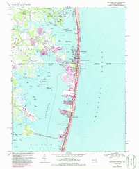 Download a high-resolution, GPS-compatible USGS topo map for Assawoman Bay, MD (1988 edition)