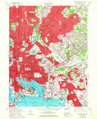Download a high-resolution, GPS-compatible USGS topo map for Baltimore East, MD (1967 edition)