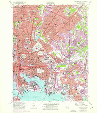 Download a high-resolution, GPS-compatible USGS topo map for Baltimore East, MD (1976 edition)