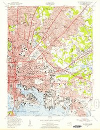 Download a high-resolution, GPS-compatible USGS topo map for Baltimore East, MD (1957 edition)