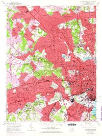 Download a high-resolution, GPS-compatible USGS topo map for Baltimore West, MD (1968 edition)