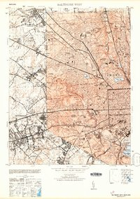Download a high-resolution, GPS-compatible USGS topo map for Baltimore West, MD (1953 edition)