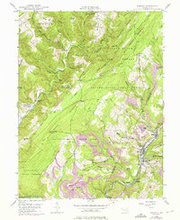 Download a high-resolution, GPS-compatible USGS topo map for Barton, MD (1976 edition)