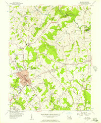 Download a high-resolution, GPS-compatible USGS topo map for Bel Air, MD (1957 edition)