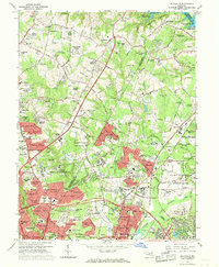 Download a high-resolution, GPS-compatible USGS topo map for Beltsville, MD (1969 edition)