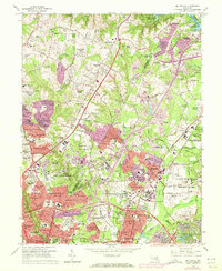 Download a high-resolution, GPS-compatible USGS topo map for Beltsville, MD (1972 edition)