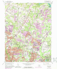 Download a high-resolution, GPS-compatible USGS topo map for Beltsville, MD (1989 edition)