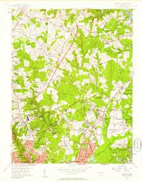 Download a high-resolution, GPS-compatible USGS topo map for Beltsville, MD (1958 edition)