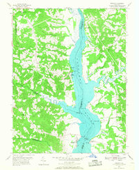 Download a high-resolution, GPS-compatible USGS topo map for Benedict, MD (1968 edition)