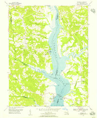 Download a high-resolution, GPS-compatible USGS topo map for Benedict, MD (1956 edition)
