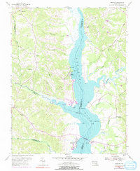 Download a high-resolution, GPS-compatible USGS topo map for Benedict, MD (1991 edition)