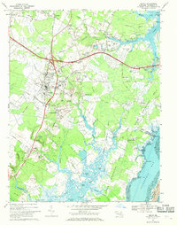 Download a high-resolution, GPS-compatible USGS topo map for Berlin, MD (1969 edition)